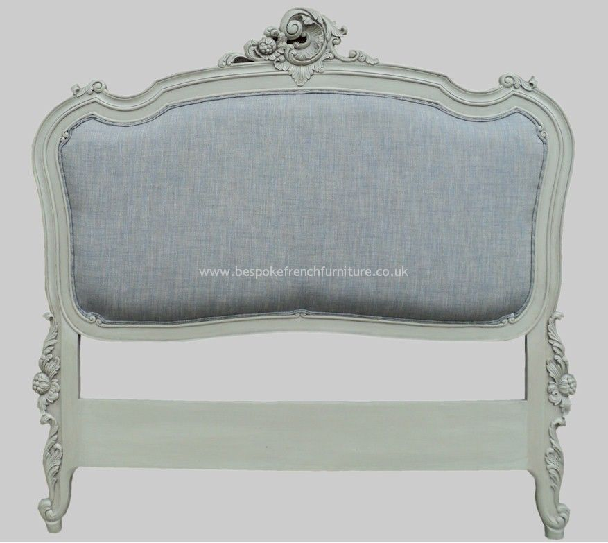 Rococo upholstered french headboard double for Double headboards uk